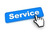 Service Button with Hand Cursor