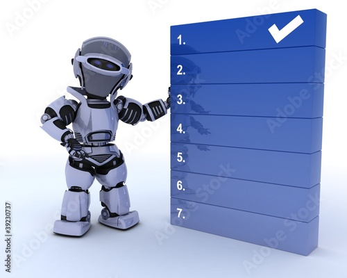 robot with a to do list