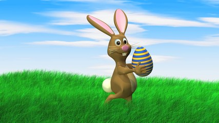 easter bunny seaks with easter egg