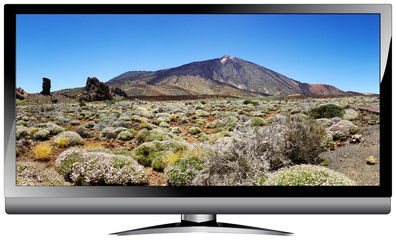HDTV WideScreen with landscape