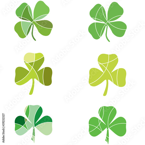 Segmented green shamrocks