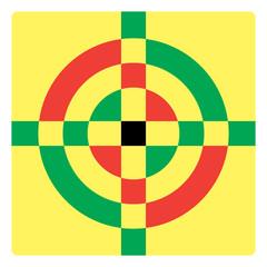 Simple croshair symbol - illustration