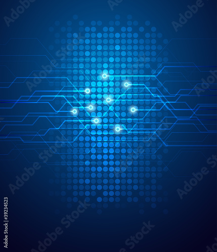 Abstract circuit background vector illustration