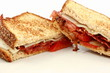 Grilled Sandwich With Bacon, Tomato, and Onion