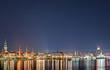 Skyline von Hamburg bei Nacht 2