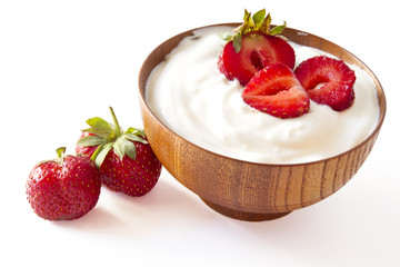 STRAWBERRY YOGURT on withe