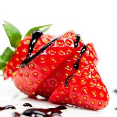 Erdbeere geschnitten
