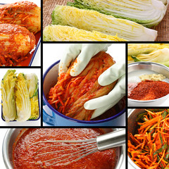 making kimchi process, korean food