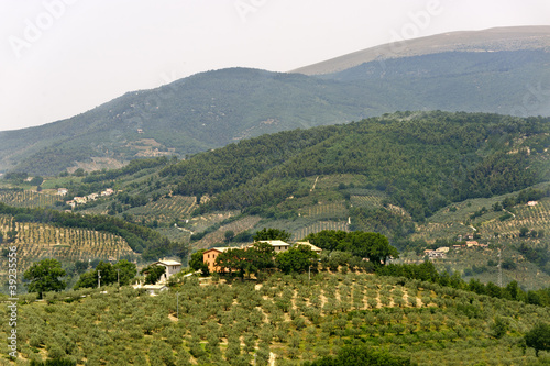Landscape in Umbria near Foligno