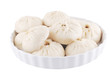 Chinese Steamed Buns isolated on white