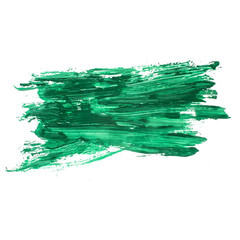 green watercolors spot blotch isolated