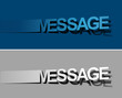 Message peel off vector design element