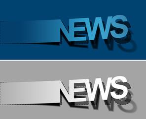 News peel off vector design element
