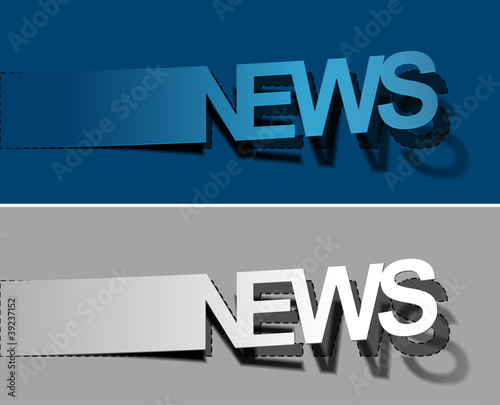 News peel off vector design element