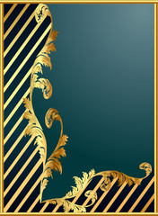 background with gold(en) pattern and band