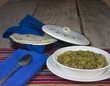 Serving of Chili Verde and Tortillas