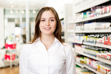 Portrait of Young Attractive Pharmacist
