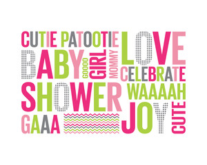 Tagcloud: baby shower for a girl