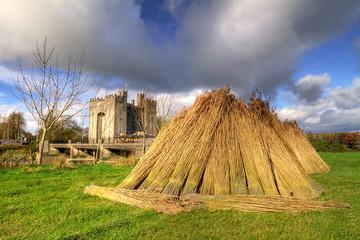 Haystack at Bunratty castle in Co. Clare, Ireland
