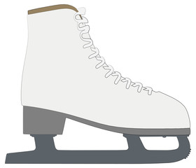 skates outline silhouette vector