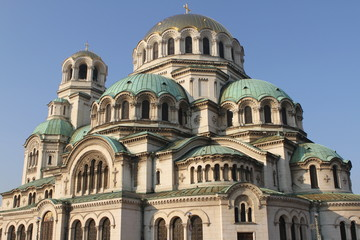 A view of Alexander Nevsky cathedral in Sofia