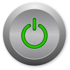Green power button - switch