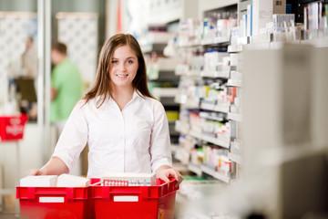 Portrait of Attractive Female Pharmacist