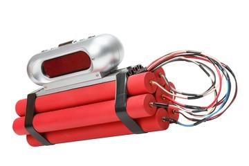 tnt time bomb with alarm clock detonator
