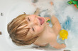 Cute toddler in the bath