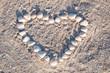 Muschelherz am Strand