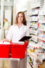 Pharmacist with Digital Tablet Prescription