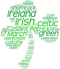 trifoglio simbolo di Irlanda - Tag cloud