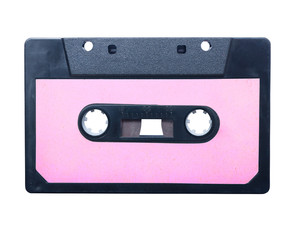 Vintage audio cassette isolated.