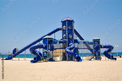 Beach playground for children