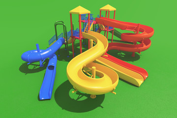 Colourful playground