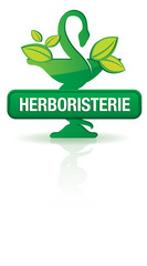 bouton caducee, herboristerie