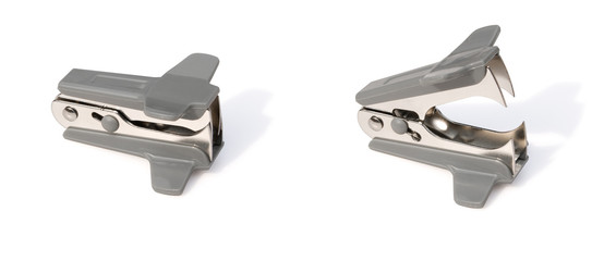 staple remover close & open with clipping path