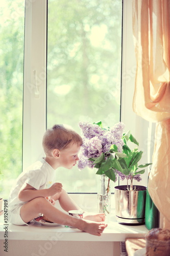 The child at a window