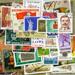 Postage stamps of the different countries