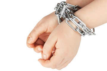 Hands  in a chain
