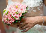 Beautiful bridal bouquet close-up
