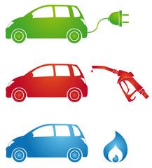 Symbole für verschiedene Kraftstoffarten