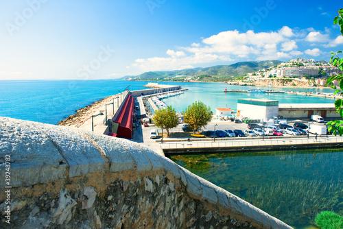 Aluminium View of the Peniscola port in Valencia, Spain