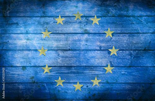 bandiera europa vintage