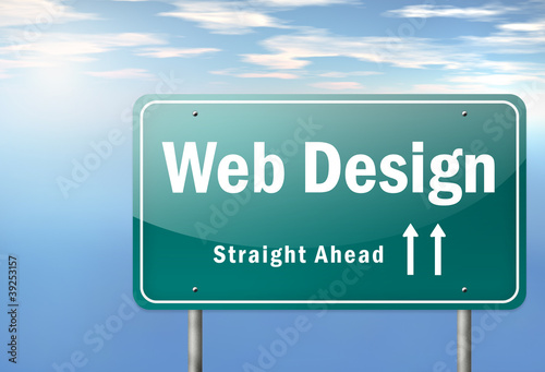 "Highway Signpost ""Web Design"""