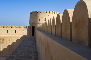 Historic adobe fortification, watchtower of Sunaysilah Castle or