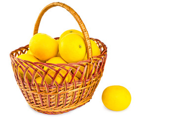 grapefruit in a cart