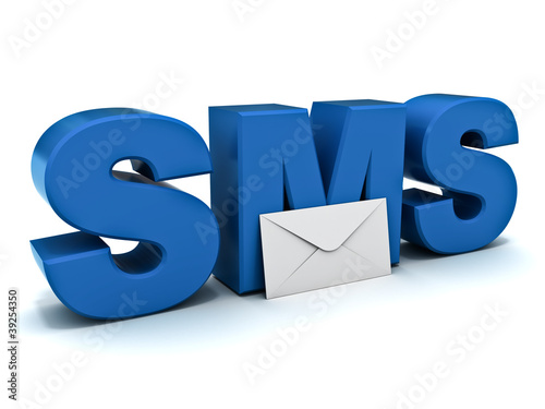 Sms short message service concept