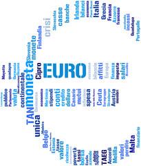 simbolo dell'Euro - Tag cloud