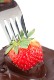 Chocolate Coating Strawberries